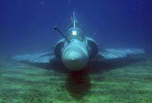 Submerged and aeroplanes