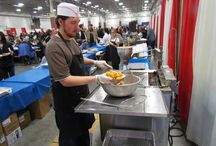 Ethnic Food / A variety of ethnic food served at Holiday Folk Fair International, America's Premier Multicultural Festival