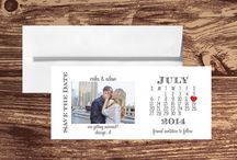 Wedding Save the Dates / A collection of Too Chic & Little Shab Design Studio, Inc. Wedding Save the Date cards.