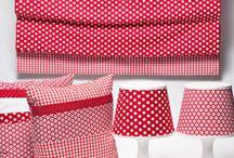 individuelle Rollos von Wildwechsel / Wildwechsel bietet farbenfrohe Einrichtungstextilien auf Wunschmaß an.  Alle Produkte sind kleine Kollektionen und miteinander kombinierbar.