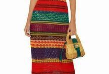 vestido de rayas en crochet
