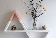 Shelves and Shelving Ideas / Interior Design, Home Design, Home Decor, Wall Art Displays, Modern Minimalist Decor, Scandinavian Style, Nordic Design, Boho Home, Zen Living, Light-Filled Spaces