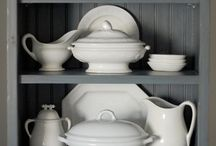 I love....white (ironstone) and silverware.. / Lots of  pretties. / by Sandy Kohring