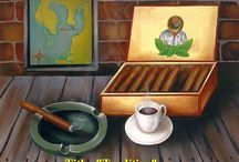 Fine Art / The best art of Miami. Paintings, beautiful purse with artworks, dominoes set, Cigar box .