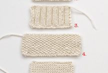 Crochet, knitting technique