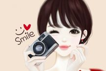 Cute Anime like Korean Beauty
