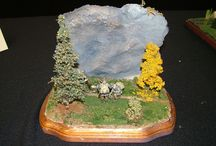 Scenes in miniature / Various scenes, such as landscapes, portrayed in miniature form
