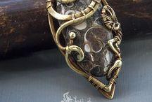 bijoux cuivre et pierres