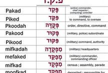 Hebrew consonant roots