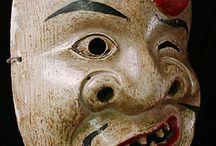 maski nō - noh masks / japońskie maski nō - japanese noh masks