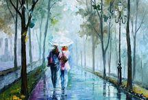 a walk in the rain