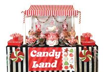Christmas candy lolly buffet