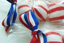 Patriotic Gift Baskets / Ideas for Memorial Day, Flag Day, Veterans Day, and 4th of July fundraisers.