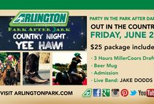 Miller Lite Party in the Park After Dark - Country Night! / The first Party in the Park After Dark will take place on Friday, June 27. Get your cowboy boots ready and enjoy an amazing country-themed night!  / by Arlington International Racecourse