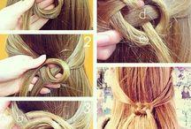 Con el cabello: