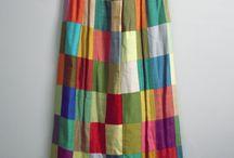maxi skirt  patchwork