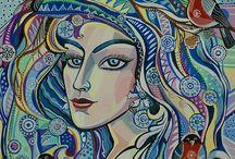 Женский образ. Картины Намаконовой Евгении
