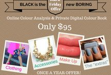 Black Friday Colour Analysis / Get an Online Colour Analysis done by me and a  Personalized Colour Board & Digital Colour Book for only $95US! Only available once a year on Black Friday.  / by Lisa McLatchie - Personal Stylist