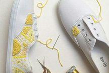 sneakers borduren