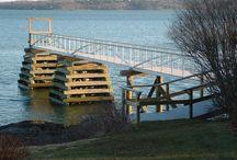 Muelles y pantalanes de madera