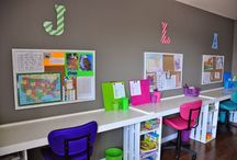 Homework Station and Organization / Everyone needs a base of operations for school work and activities. It can be a corner nook, a desk, a spot in the kitchen. This board will inspire you to make the most out of the space you have and give you terrific ideas for keeping you and your child organized as well!