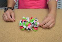 Hair bows / All sorts of hair bows.  Baby bows, horse show bows, large bows