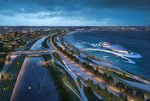 Infraestructura / Tablero que muestra proyectos ajenos a Mo.A, que sirven para expresar nuestras preferencias arquitectónicas