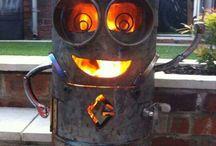 Scrap Metal BBQ's & Fire Pits