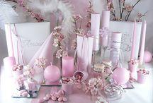 Mariage rose printemps / Pour un mariage de princesse, inspirez-vous de cette décoration de table aux allures douces et épurées... plumes, fleurs et paillettes: plongez dans une ambiance de rêve !
