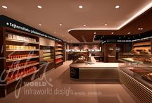 Bakery, café and shop interior design / Our services include the designing and full construction works of stores, bakeries, wellness terraces as well as 3D realistic and conceptual designing of residential houses and wellness centres.