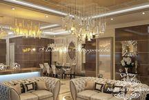 Дизайн-проект квартиры в стиле Модерн в ЖК Корона / Дизайн-проект разработан для квартиры в ЖК «Корона» и выполнен в стиле модерн. Всего имеется несколько помещений: гостиная, спальня, гардеробная, прачечная, ванная и туалет.  В комнатах использовался способ визуального зонирования помещения, это заметно насыщает квартиру светом и делает её более просторной.