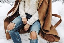 .Winter fashion.
