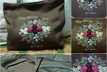 Ribbon Embroidered  Bags
