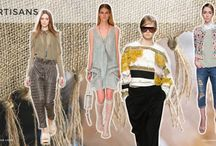 S/S 2015 Trends No. 5: Artisans / Handcrafted… back to nature… fashionable folk… casual sportswear… craft techniques… natural, earthy colours… knitting, crochet, cutouts, weaving… perfectly imperfect and raw… denim, jute, wovens. (Spring/Summer 2015 Trends No. 5: Artisans)    http://www.colourandtrends.com/