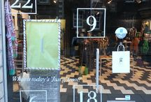Just g Boutique Advent Calendar / For December 2013, we're showcasing treats in our advent calendar window - great Christmas present ideas or treats for yourself!
