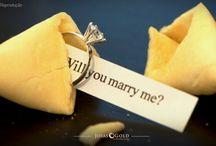 Pedido de casamento / O pedido de casamento tem um significado muito importante, afinal é o primeiro passo de uma vida a dois. Confira as ideias que selecionamos para inspirar você a tornar esse momento o mais lindo e emocionante de sua vida. ♥