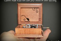 HAND CRANK MUSIC BOXES / These have the crank on the side of the wooden box, these music boxes play the song while you are turning the handle! If you stop turning the handle, the music stops playing as well!  These music boxes can have open lids or they can be sealed shut! You can check them out here: https://www.etsy.com/shop/Simplycoolgifts?section_id=11242244&ref=shopsection_leftnav_1