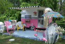 """""""Queen of the Road"""" / Vintage, Retro, Campers/Trailers and Decor. One woman's Trash is another woman's Trailer! / by Trudi Ross"""