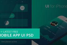 Mobile App UI PSD
