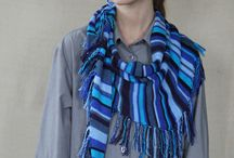 Striped scarf colorful striped triangle