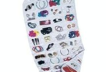 Household Essentials 80-Pocket Hanging Jewelry and Accessories Organizer, White Vinyl by Household Essentials,