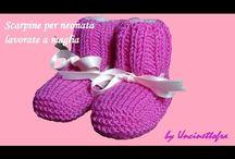 scarpine per neonato a maglia