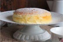 pastel de queso japonés.