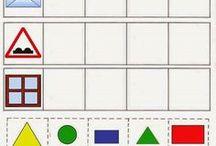 matematika, tvary, barvy