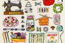 Cross Stitch / Cross stitch patterns from some of my favourite illustrators