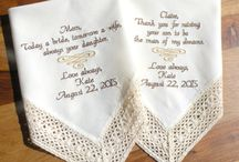 Ivory, Wedding Handkerchiefs / Embroidered Wedding Handkerchiefs by Canyon Embroidery Embroidered Wedding Handkerchiefs, Make your wedding extra special by getting your handkerchiefs personalized! They make wonderful gifts for the Mother, Father of the Bride & Groom. And wedding party. ❤ #wedding #embroideredweddinggift #gift