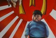 pop surrealism / i miei quadri sono principalmente surrealisti. Utilizzo olio e acrilico su tela e masonite.  Pop surrealism, surrealismo.