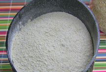 Gluten free flours / An easy, visual list of g-free flours, some well known and some less so!