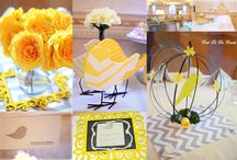 """A """"Tweetie"""" Bird Inspired Baby Shower / A yellow and grey neutral themed baby shower with a touch of whimsy! For all for all of the details and plenty more pictures on this gorgeous party by C'est La Vie Events and Photography, please click or blog link here: http://cestlavieevents.blogspot.com/2013/07/a-tweetie-bird-inspired-baby-shower.html"""