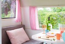 Mieps Huis / Een hippe en lieve gepimpte caravan die je kunt huren voor vakantie of als theehuisje. / by Bijzonder Plekje
